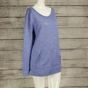 Gap Fit XS Sweater Pullover Knit top front pocket